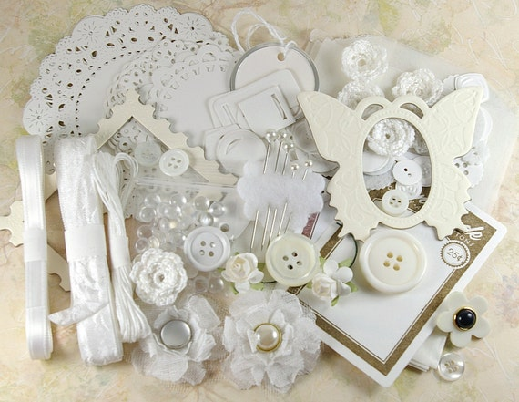 White Embellishment Kit