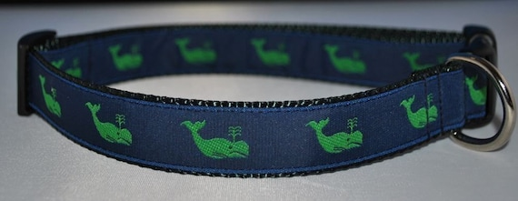 Moby Green Whale - Dog Collar