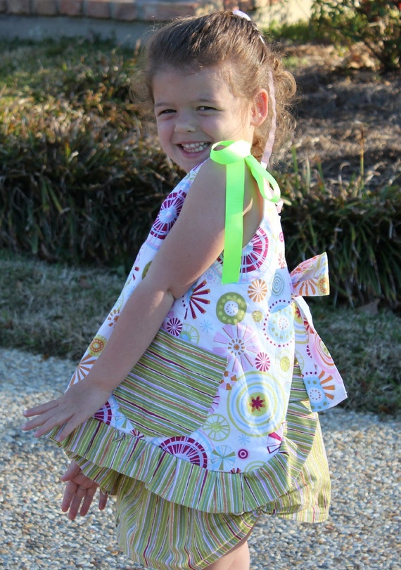 Pinafore Top and Skirt - PDF sewing PATTERN