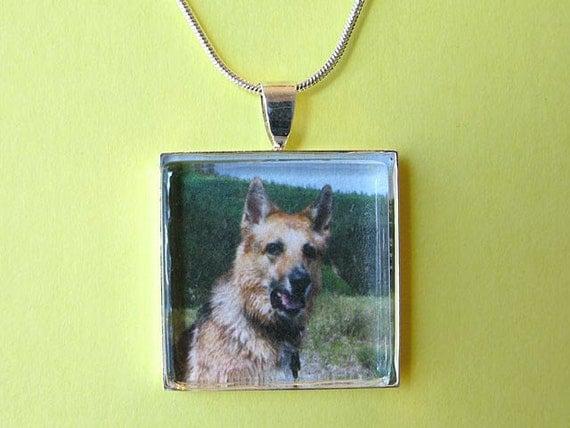 Custom Jerry memorial photo necklace