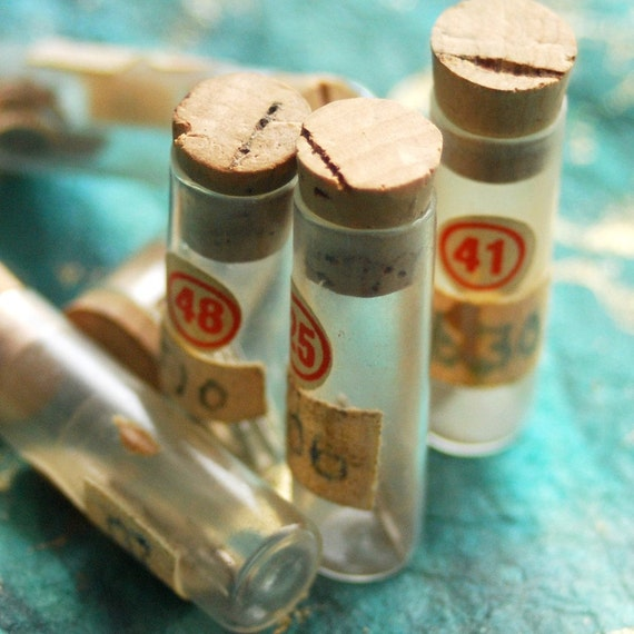 8 vintage bottles or vials for watch parts to use in your assemblage mixed media JEWELRY or in any way you would want it to CHARM lot Feb 15
