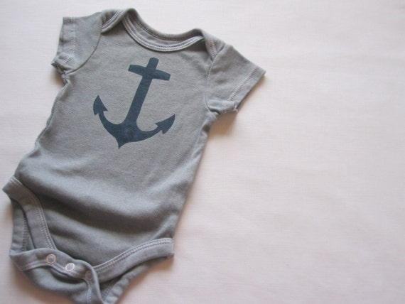 navy ship anchor baby bodysuit