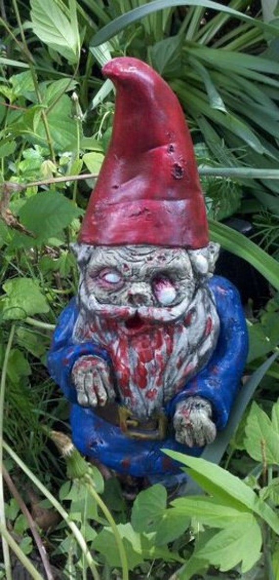 "Zombie Garden Gnome, ""Walking Dead"""
