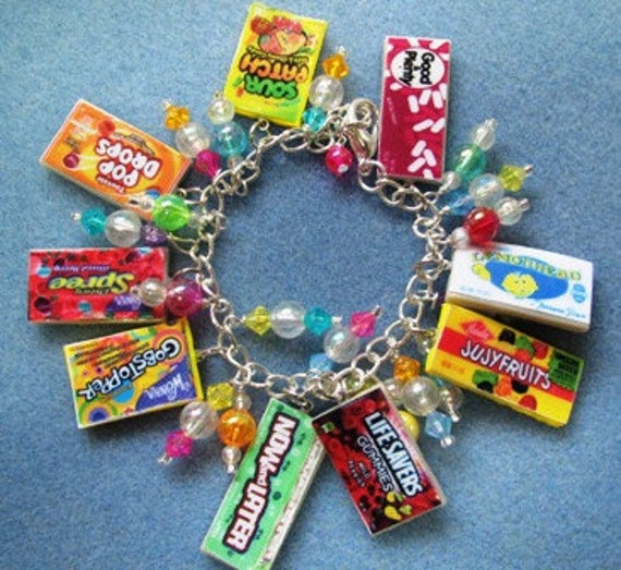 Sweet Tooth Polymer Clay Candy Adjustable Charm Bracelet - Style 5
