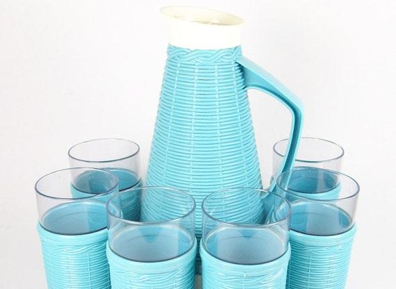 Basketweave Beverage Set