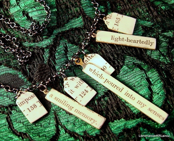 Poetry Collage Necklace - An Indian Journey - 1928