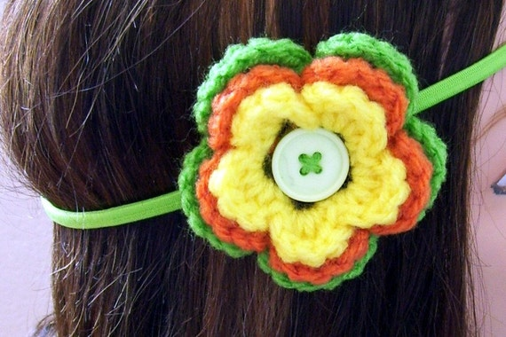 Summer Citrus Flower Headband