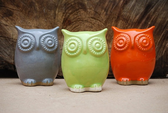 Orange owl , great Festive  home decor