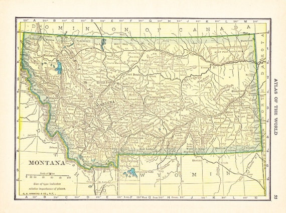 map of montana state. 1910 State Map of Montana /