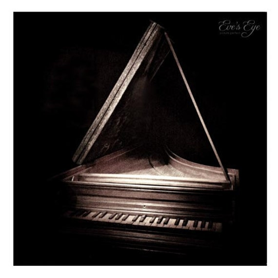 Victorian Piano  Sits In Darkness Waiting To Be Played  by EvesEye from etsy.com