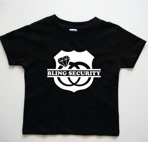Ring Bearer Gifts :  wedding Il 570xN.244842163 Bling Security T-shirt