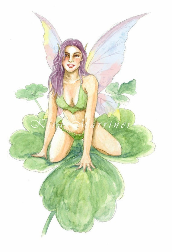 Two Shamrock Fairy Watercolor Cards