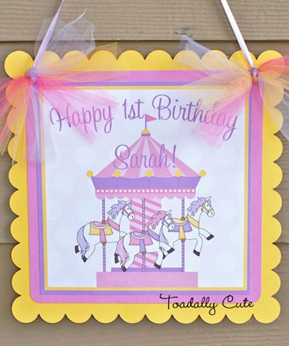 Carousel Door Sign Toadally Cute Products