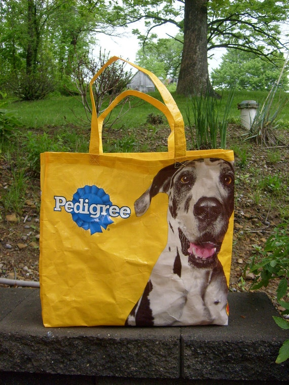 Recycled Dog Food Tote, Market Bag, or Purse
