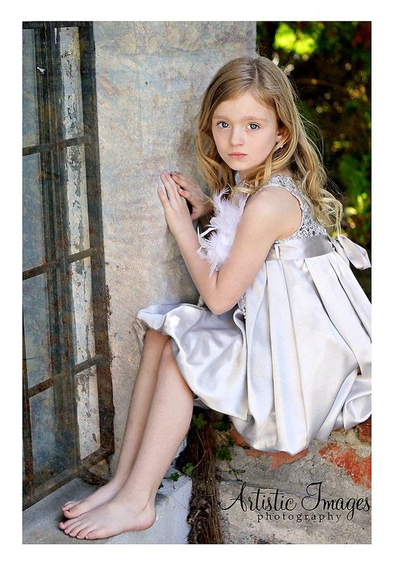 دختر پولک حزب حباب لباس
