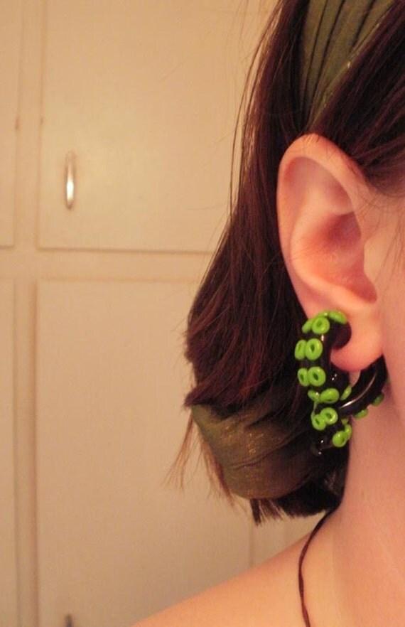 Tentacle Fake Gauge Earrings