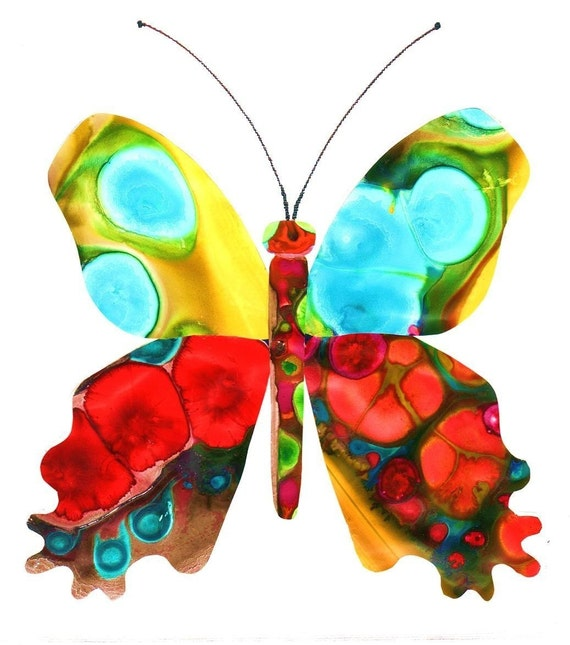 Watercolor Butterfly Art