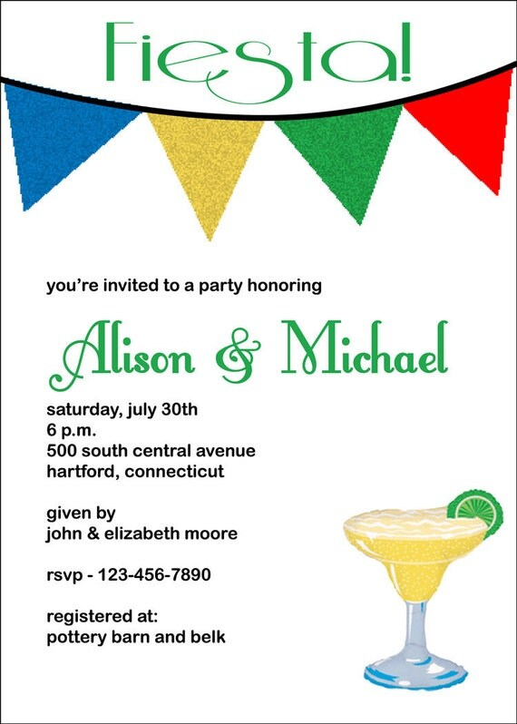 Margarita Shower Invitation