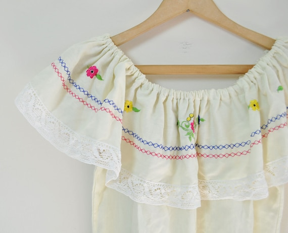 Vintage 70s Peasant Blouse by MariesVintage on Etsy from etsy.com