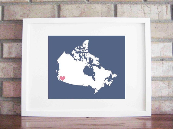 Customize Your Home Is Where The Heart Is - Canada 8x10
