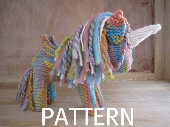 Rainbow the Pegasus Unicorn with Wings Pattern, PDF