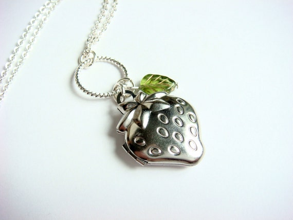 Strawberry Fields - Locket Necklace