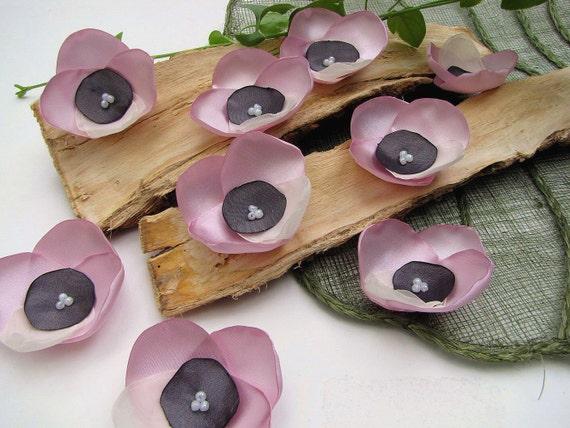 Новый Стиль-шить ручной работы на цветочных аппликаций (6 шт) - сиреневый розовые орхидеи