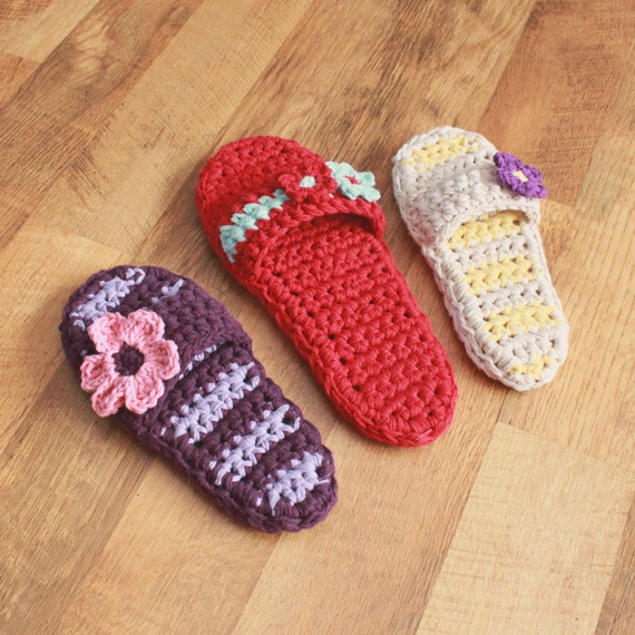 Pammy Sandals with Flowers PDF Crochet Pattern