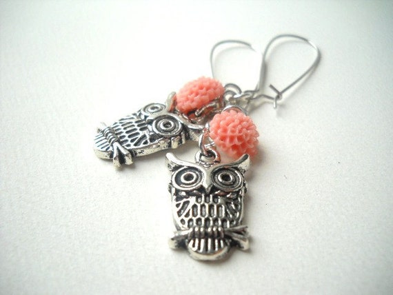 The Owl Is Wary, The Owl Is Wise - Earrings