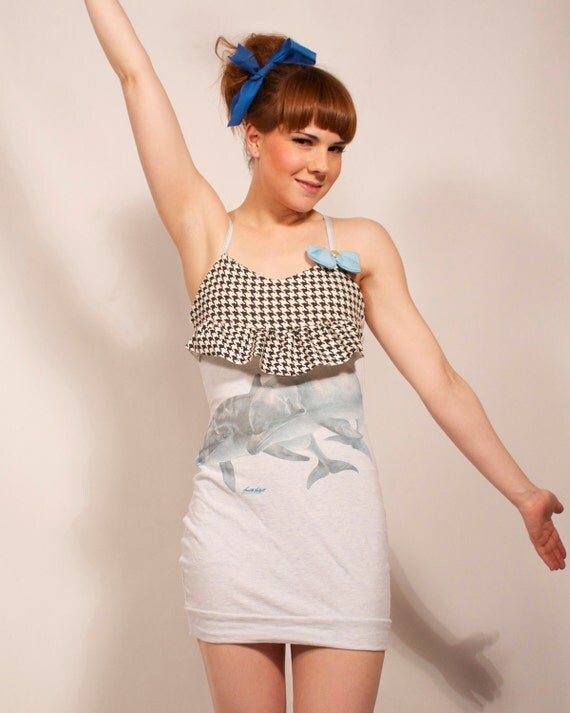 Dolphins and Ruffle Tank Dress