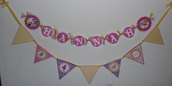 Tangled Party Personalized Pennant Banner