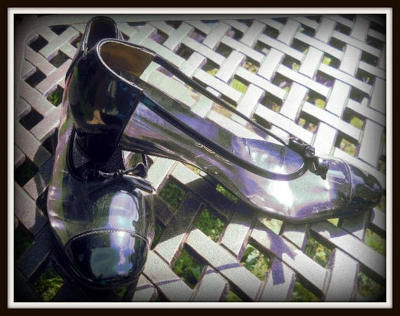 Vintage Translucent and Black Shoes