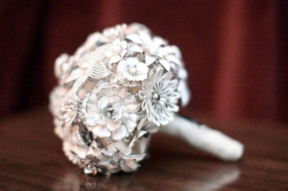 CUSTOM MADE Vintage Brooch Wedding Bridal Bouquet - to fit your colors, style & budget OOAK