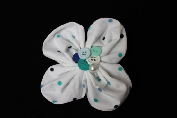 One of  a Kind Polka Dot Barrette