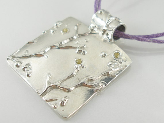 Cherry Blossom Pendant and Necklace in Solid Silver