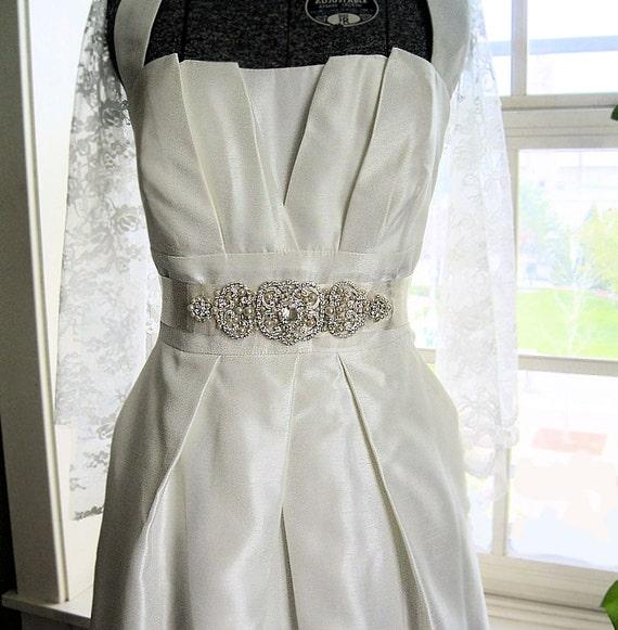 Sparkle Rhinestone and Pearls bridal sash