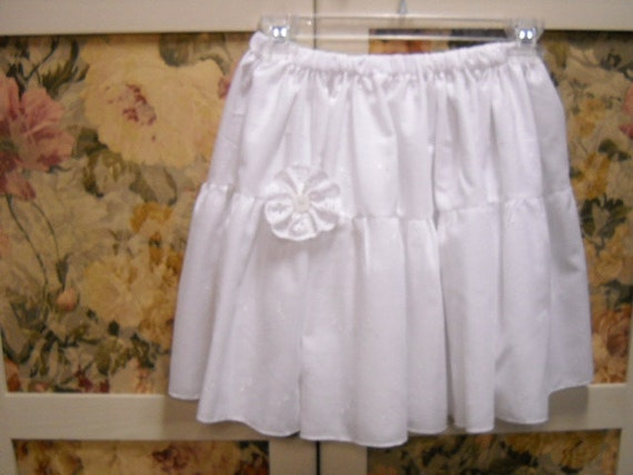 White Eyelet Petticoat/Skirt/Slip for Summer