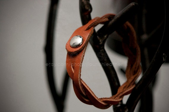 Lover Natural Brown Leather Woven Bracelet