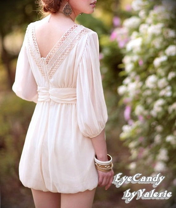 Romantic.....Pale Pink Greek Style eyelet jumper