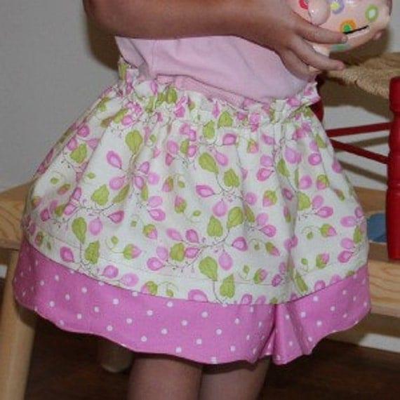Girls' Reversible Skirt - PDF Sewing Pattern and Tutorial