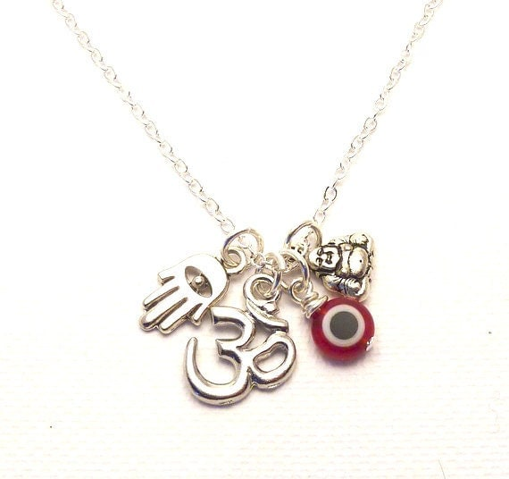 Luck and Protection Charm Necklace,yoga jewelry