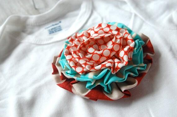 fabric flower onesie