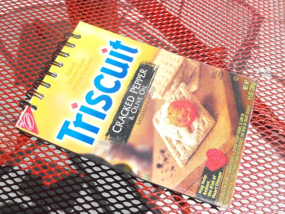 Recycled Triscuit Journal