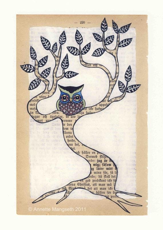 Colourful owl - Print