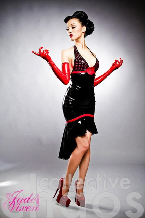 Latex Polka-Dot Mademoiselle Dress