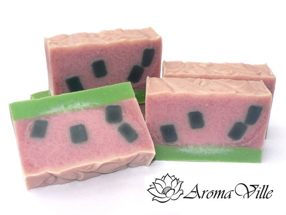 Watermelon & Avocado Oil Handmade Soap