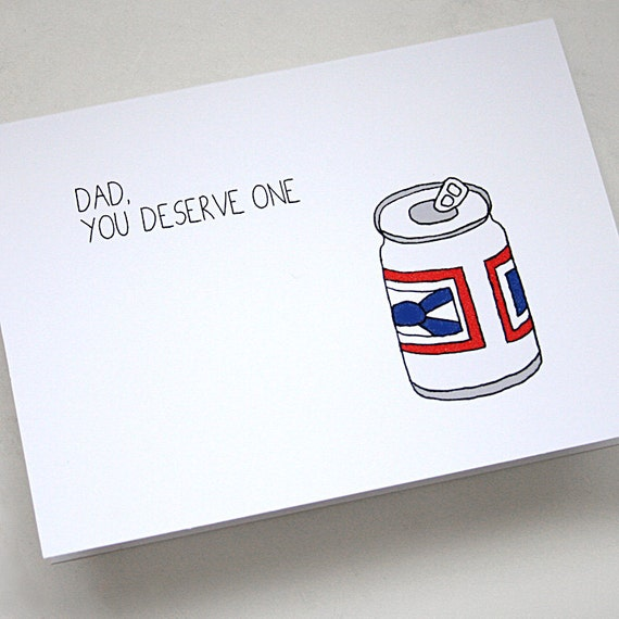Father's Day Beer - Greeting Card