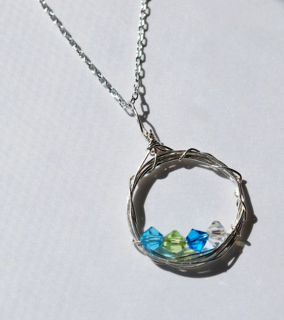 Custom Family Jewelry: Birthstone Necklace