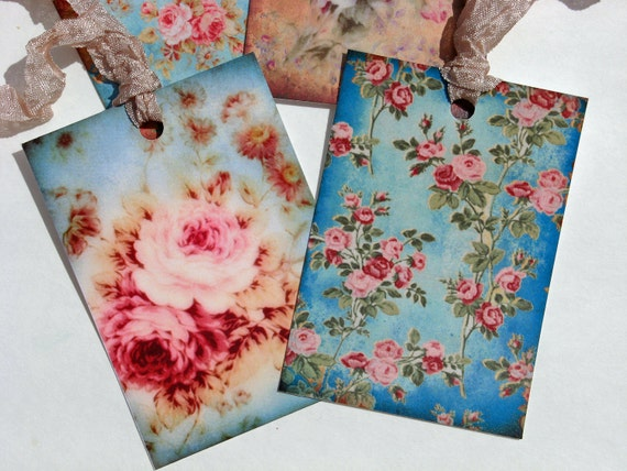 Gift Tags - Shabby Chic Florals Set of 8