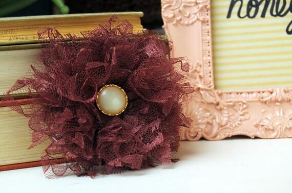 Brunette Lace Handmade Fabric Fascinator